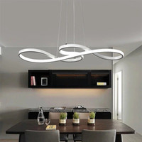 Modern Geometric Metal Dimmable Led Ceiling Lights Lustre Ac...