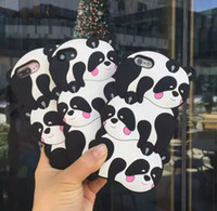Cartone animato panda per iPhone 7 Plus 8 3d Custodia in silicone carino per iphone 6 x 6 plus 5 5 se