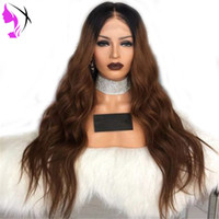 Long 180density full Body Wave Synthetic Lace Front Wig Dark...