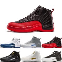 Nuevos 12 zapatos de baloncesto OVO White TAXI Flu Game Gamma Blue Playoff Flint French Blue Wool Grey Jade 12 Hombres clásicos Seankers