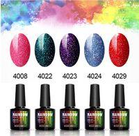 Nail 10ML brillo de neón Barnices UV Led lámpara UV de uñas Vernis Semi Permanente Gel Belleza polaco del gel del clavo del arco iris