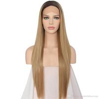 В наличии 10-26 дюймов мода парик омбре синтетические кружевные парики с детскими волосами для женщин