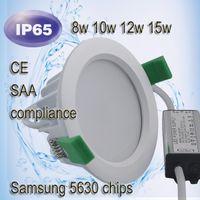 Wodoodporna Downlight IP65 Downlight COB 9W 15W 24W LED LED Light LED Sufit Lampa do łazienki Downlight Ship DHL