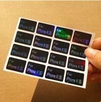 Nova etiqueta Chegada atacado personalizado para o telefone móvel Caixa ou embalagem personalizada à prova d'água Modelo da etiqueta para o caso de telefone celular