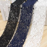 Elastic Flower Lace Trim Hollow Out Stretch Fabric Lace Deco...