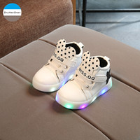 2018 LED lighted baby boots fashion newborn shoes boys girls...