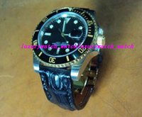 Luxury Watches Black Leather Bracelet 116610 Black Padded St...