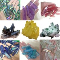 Aura Titanium Crystal Wands electroplating Specimens Reiki Q...