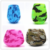 NEW Skull silicone wine glasses camo rubber beer cup Flexibi...