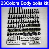 Pernos de carenado Kit de tornillo completo para Yamaha FJR1300 01 02 03 04 05 2005 FJR 1300 2001 2002 2003 2004 2005 Tuercas corporales Tornillos Tuercas Nuez Kit 25 Colores