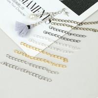 1000 PCS 5cm Collana Collana Extender Catena Bulk Extension Catene di coda per gioielli facendo 5 colori per opzione