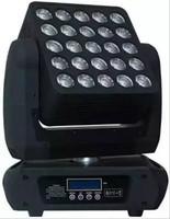 LED de alta calidad 25pcs * 12W MATRIX Mover Head Beam Light Cree RGBW 4IN1 LEDS DMX 512 Beam Head Head CE CETER CERTIFICADO LLFA