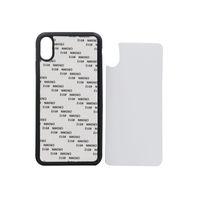 Copri-telefono TPU + PC per stampa a sublimazione fai-da-te per iPhone XS XS MAX-Caso stampa gomma bianca con foglio di alluminio