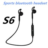 Fashion S6 Wireless Bluetooth Headphone Stereo Cellphone In-...