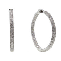 2018 new micro pave cz big hoop earring 25mm 50mm 2 sized fa...
