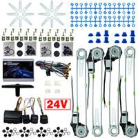 Leewa auto / truck DC24V Universal 4 deuren elektronice power winditers kits met 8 stks Switchces harnas # 2978