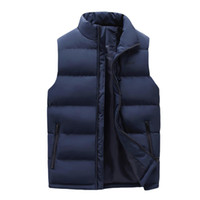 Fashion Zipper Light Sleeveless Solid Color Warm Men Casual ...