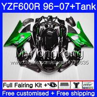 Corpo + Tanque Para YAMAHA Thundercat YZF600R 96 97 98 99 00 01 229HM.1 YZF-600R Chamas Verdes HOT YZF 600R 1996 1997 1998 1999 2000 2001 Carenagem