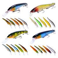 Basso Crankbaits set fiume Esca di pesca del vestito 24pc / set 4 stili packaging designer Swimbaits TWITCH disco esca Box