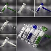 Nuovo martello di vetro 6 Tubo percolatore in vetro percolatore per acqua senza bocchino in titanio con punta in titanio da 14 mm