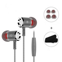 M400 3. 5mmMetal Earphone for Phone Super Bass In- ear Earphon...