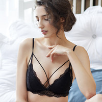 The new lace underwear in summer is a thin cotton band witho...