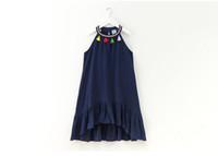 4 a 12 anni delle ragazze di estate del vestito di abbigliamento nappa spiaggia di abbigliamento casual per bambini di stile della Boemia usura vendita al dettaglio, R1AAB512DS-99, [ElevneStory_DH]