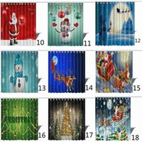 Navidad cortina de baño cortina de baño cortina de ducha 3d flor cortina copo de nieve arte navidad cortina de ducha impermeable 165 * 180 cm Año Nuevo Gif
