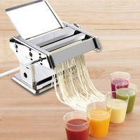 Edelstahl gewöhnlichen 2 Klingen Pasta Making Machine Manuelle Nudelhersteller Hand Betrieben Spaghetti Pasta Cutter Nudel Aufhänger