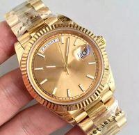 Clássico Hot Luxo Men's Sports Watch 18K Gold 40mm Dial Romano Daydate 2813 Alta Qualidade Movimento Automático Sapphire Original Clasp Relógios