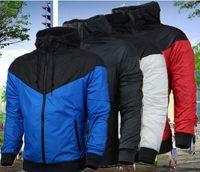 Moda Uzun Kollu Erkekler Ceket Kaban Kış Spor Koşu Açık Windrunner Fermuar Rüzgarlık Erkek Hoodie Artı Boyutu 3XL