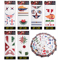 Hot 2018 FIFA World Cup Tattoo Sticker 19cm National Flag Ba...