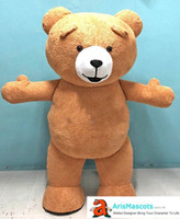 Adult Funny Inflatable Bear Mascot Costume for Theme Park Op...