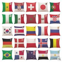 2018 Russia Coppa del Mondo Federa di calcio Federa nazionale Flags Throw Pillow Cover per Top 32 Paesi Club Bar Cuscino 45 * 45 cm