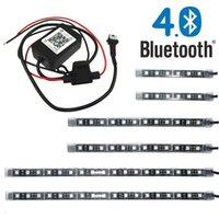 블루투스 앱 제어 6pcs 멀티 컬러 5050 SMD RGB LED 튜브 스트립 오토바이 ATV 조명 키트
