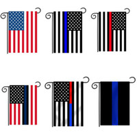 30*45cm BlueLine USA Police Flags party decoration Thin Blue...