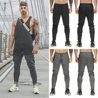 Mens Workout Pants Long Trousers 2018 New Casual Patchwork S...
