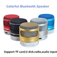 Mini A9D portable sans fil Bluetooth haut-parleur avec microphone coloré led haut-parleur Support FM Radio TF Carte U bureau Subwoofer Music Player
