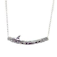 Compatibile con gioielli Pandora 925 Silver Bird curvo Bar collana per le donne dei pendenti di modo monili originali Charms