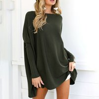2019 Autumn Women T- shirt O- Neck Long Sleeve Loose Casual To...