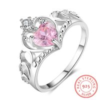 fashion female Exquisite Heart Cut CZ noble 925 Sterling Sil...
