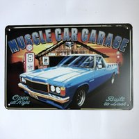 Muscle Car Garage Vintage Rustic Home Decor Bar Pub Hotel Re...