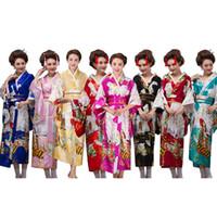Kimono japonés tradicional para mujeres Ropa 2018 Japón vestido Cherry Blossom Viendo fotografía antigua vestuario 140-178 CM