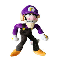 "Hot Sale 11"" 28cm Waluigi Super Mario Bros Plush Stuffe..."