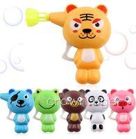키즈 비누 물 불어 거품 총 만화 동물 모델 거품 송풍기 기계 장난감 어린이위한 물 총 juguete 선물
