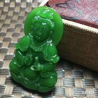 hina xinjiang hotan jade déesse de la miséricorde, de la paix et du pendentif avec la livraison gratuite A1