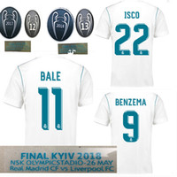 2017 2018 Champions League Finals Soccer Jersey 17 18 Real Madrid home blanco  Soccer Jerseys c24d0b48c3c68