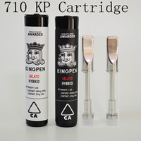 710 Kingpen Vape Cartridge Ceramic Coil E Cigarette Vape Tan...