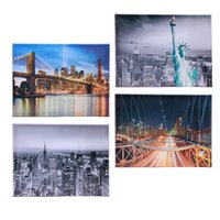 4 Piece Canvas Painting New York at night Landscape Canvas P...
