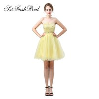 Elegant Girls Dress Sweetheart With Beading A Line Mini Shor...